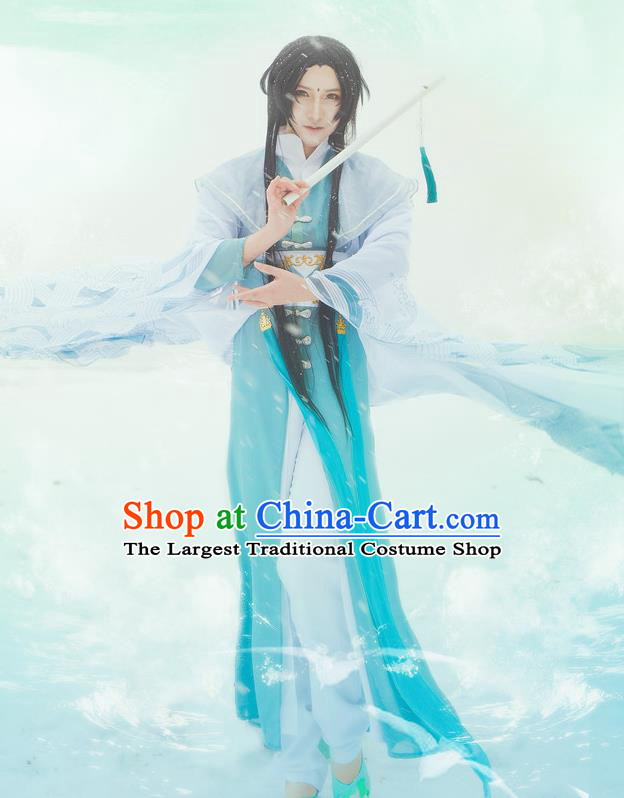 Chinese Traditional Cosplay Nobility Childe Knight Costumes Ancient Swordsman Clothing for Men