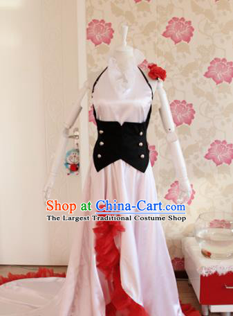 Chinese Traditional Cosplay Assassin Costumes Ancient Female Swordsman White Dress for Women