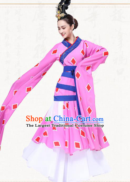 Chinese Traditional Group Dance Water Sleeve Dress Classical Dance Umbrella Dance Costumes for Women