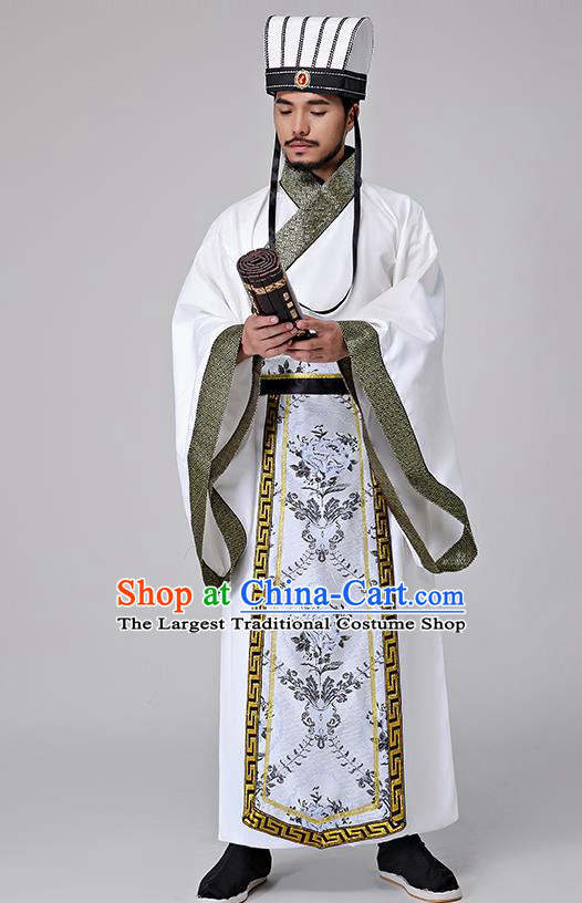 Traditional Chinese Han Dynasty Minister Costumes Ancient Drama Prime Minister Clothing for Men