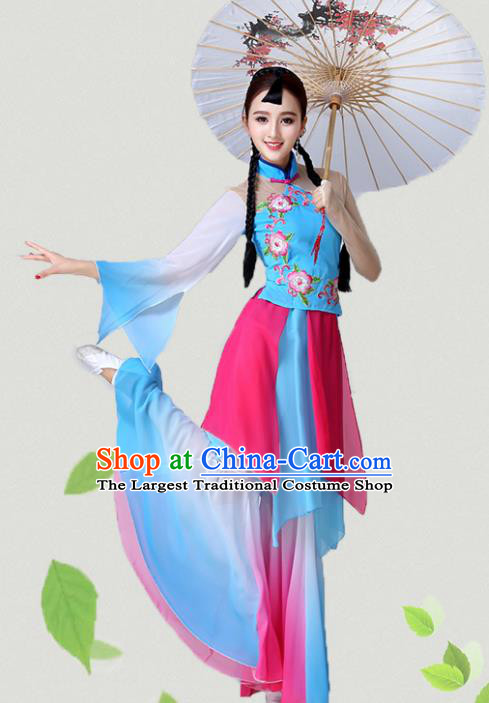 Chinese Traditional Classical Dance Clothing China Folk Dance Group Dance Costumes for Women