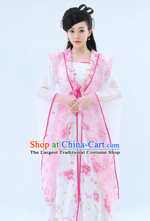 Traditional Chinese Tang Dynasty Princess Hanfu Dress Ancient Drama Peri Costumes for Women