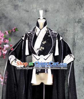 Traditional Chinese Cosplay Childe Embroidered Costumes Ancient Swordsman Hanfu Clothing for Men