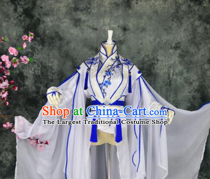 Traditional Chinese Cosplay Swordswoman Costumes Ancient Peri Hanfu Dress for Women