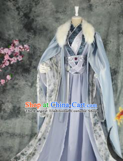 Traditional Chinese Cosplay Prince Costumes Ancient Swordsman King Hanfu Clothing for Men