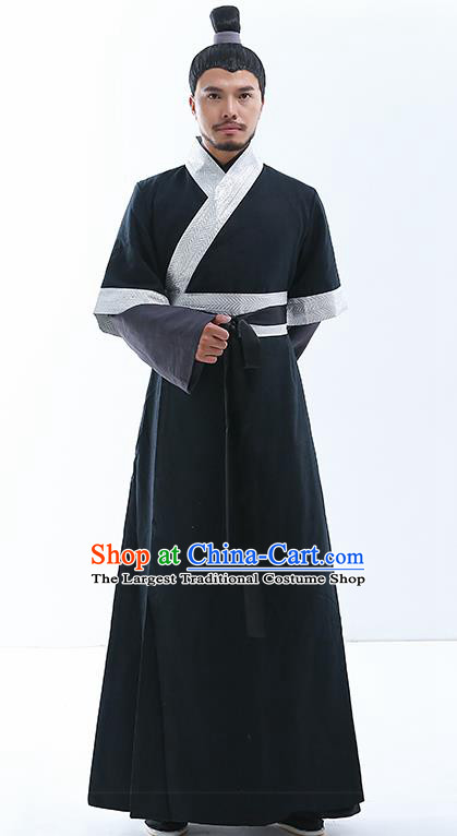 Chinese Traditional Song Dynasty Knight Costumes Ancient Drama Swordsman Clothing for Men