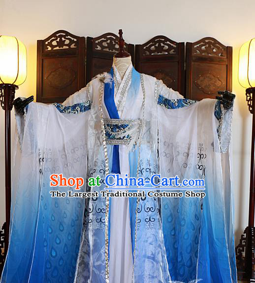 Chinese Traditional Ancient Peri Hanfu Dress Swordswoman Costumes for Women