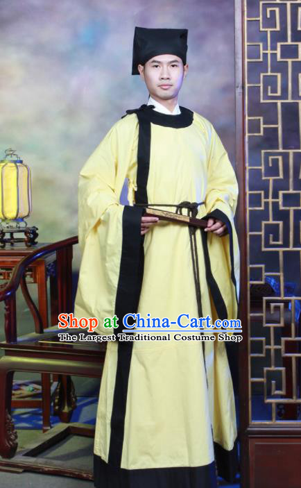 Traditional Chinese Song Dynasty Scholar Hanfu Clothing Ancient Costumes for Men