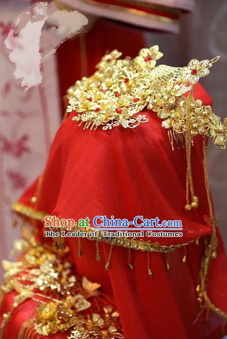 China Ancient Tang Dynasty Cosplay Princess Wedding Hair Accessories Bride Headwear Hairpins