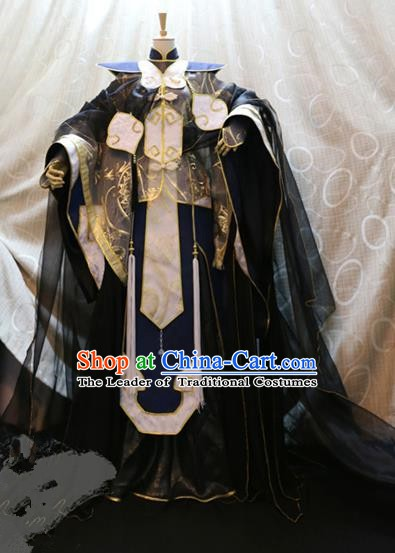 Ancient China Cosplay Han Dynasty Knight Swordsman Costumes Nobility Childe Clothing for Men