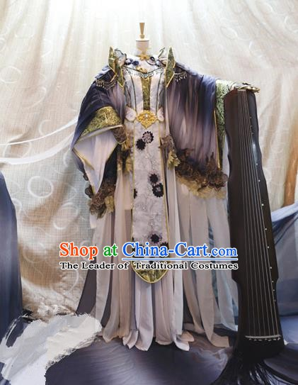 China Ancient Cosplay Empress Clothing Traditional Tang Dynasty Palace Queen Dress for Women