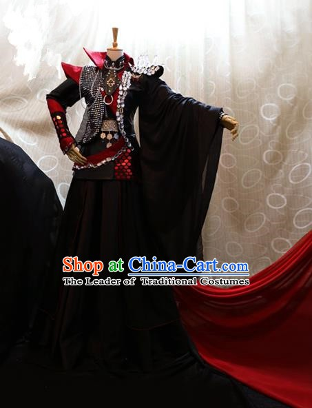 Ancient China Cosplay General Costumes Swordsman Knight Embroidered Clothing for Men