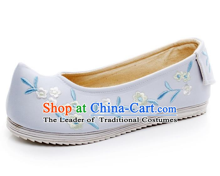 Asian Chinese Wedding Shoes Embroidery Princess Shoes, Traditional China Handmade Hanfu Shoes Embroidered Shoes