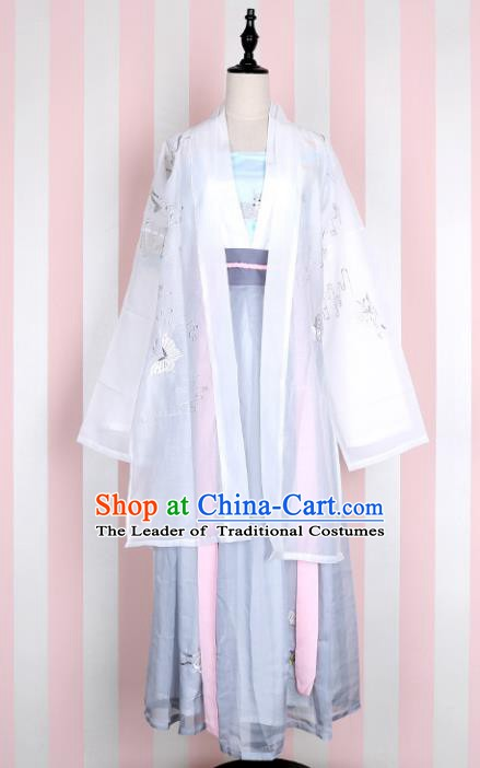 Ancient Chinese Song Dynasty Palace Lady Embroidered Costume, China Ancient Princess Clothing for Women