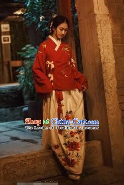 Ancient Chinese Ming Dynasty Nobility Lady Embroidered Costume, China Ancient Princess Clothing for Women