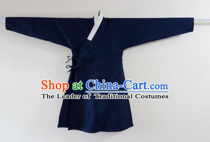 Ancient China Ming Dynasty Swordsman Costumes Blue Cape for Men