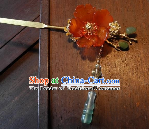 Chinese Handmade Classical Hairpins Ancient Hanfu Headdress Hair Accessories Hair Stick for Women