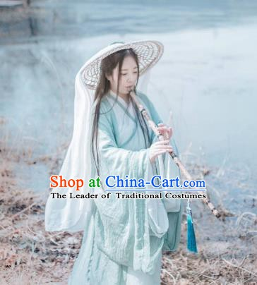 Traditional China Ancient Swordswoman Costume Jin Dynasty Fairy Princess Clothing for Women