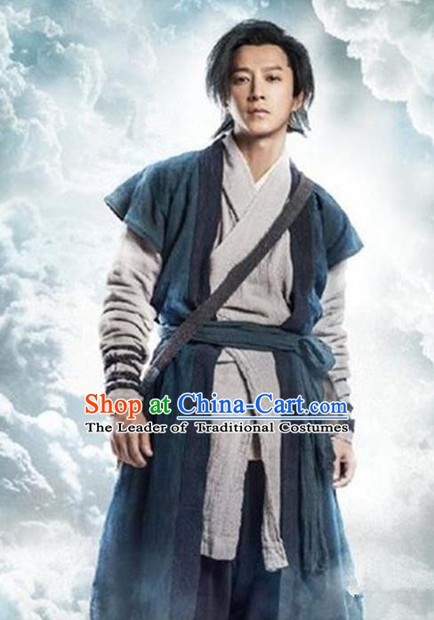 China Ancient Swordswoman Costume A Chinese Odyssey Knight Clothing for Men