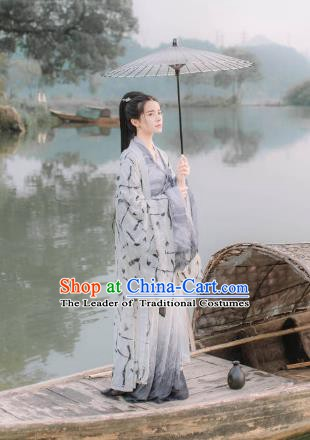 China Ancient Song Dynasty Palace Princess Costume Complete Set for Women