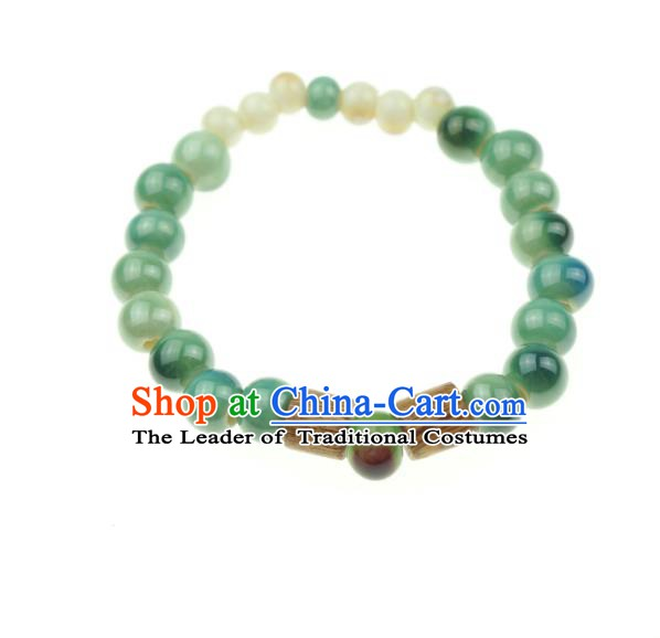 Traditional Chinese Bracelet Accessories Jingdezhen Ceramics Bangle for Women