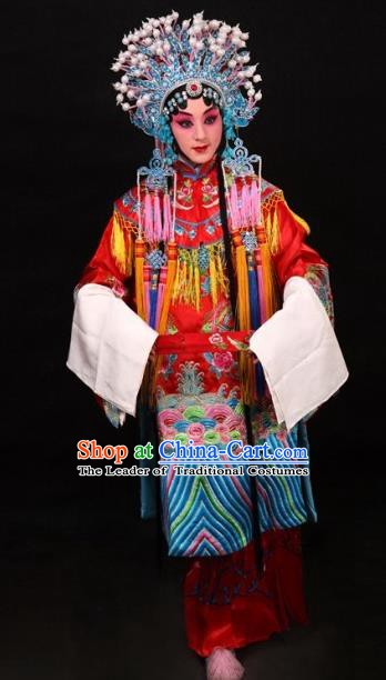 Traditional Chinese Beijing Opera Actress Costume Peking Opera Imperial Concubine Embroidered Red Clothing for Women