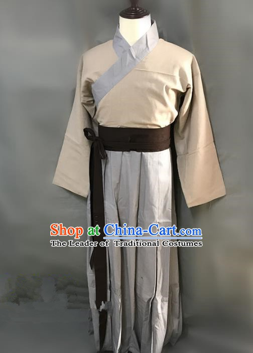 Traditional Chinese Stage Performance Costume Ancient Song Dynasty Swordsman Clothing for Men