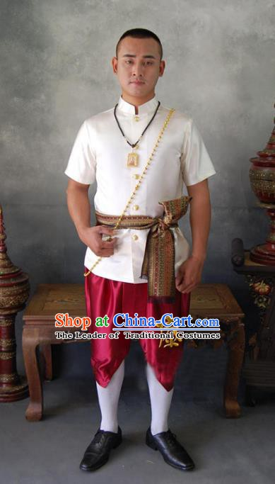Traditional Asian Thailand Stage Performance National Costume for Men