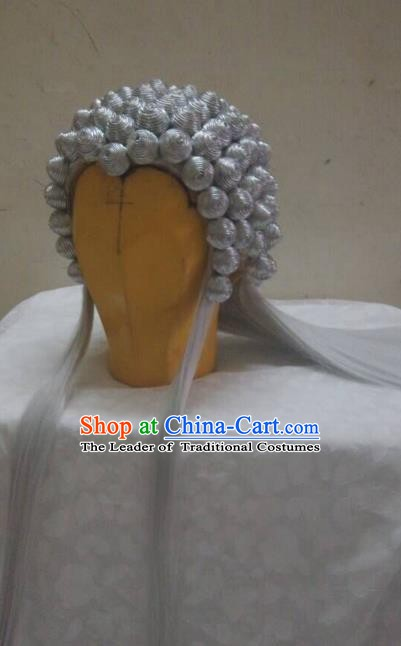 Traditional China Ancient Cosplay Swordsman Wig Chignon for Men