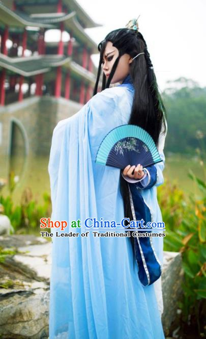 Traditional China Ancient Cosplay Swordsman Costume Nobility Childe Clothing for Men