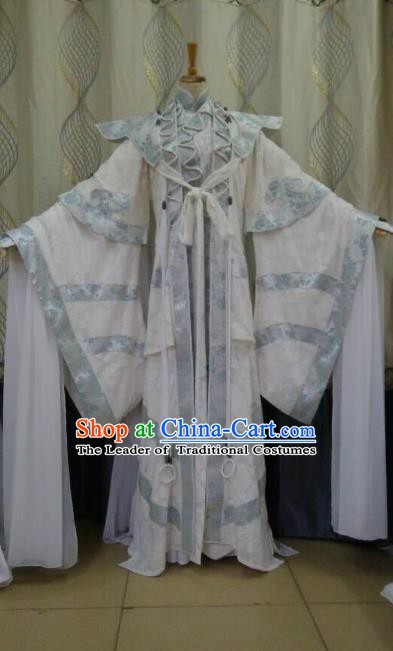 China Ancient Cosplay Swordswoman Costume Fairy Traditional Hanfu Dress for Women