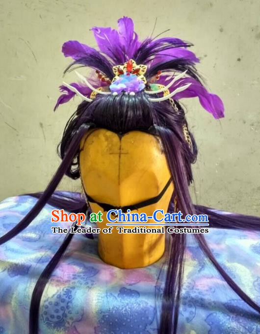 Traditional China Ancient Cosplay Princess Wig and Hair Accessories Hairpins for Women