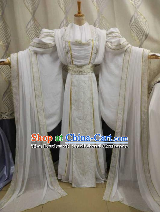 China Ancient Cosplay Peri Swordsman Costume Princess Fancy Dress Traditional Hanfu Clothing for Women