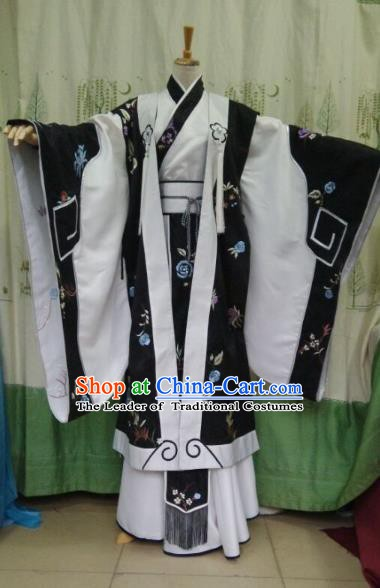 Traditional China Ancient Cosplay Prince Embroidered Costume Swordsman Clothing for Men