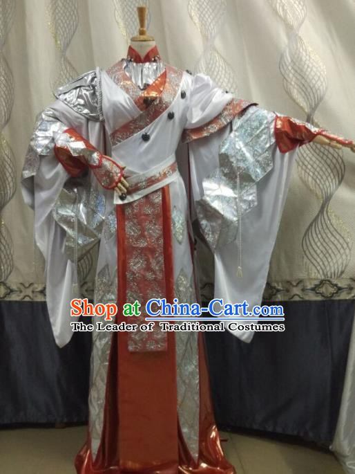 China Ancient Cosplay Female Costume Traditional Halloween Swordsman Hanfu Clothing for Women