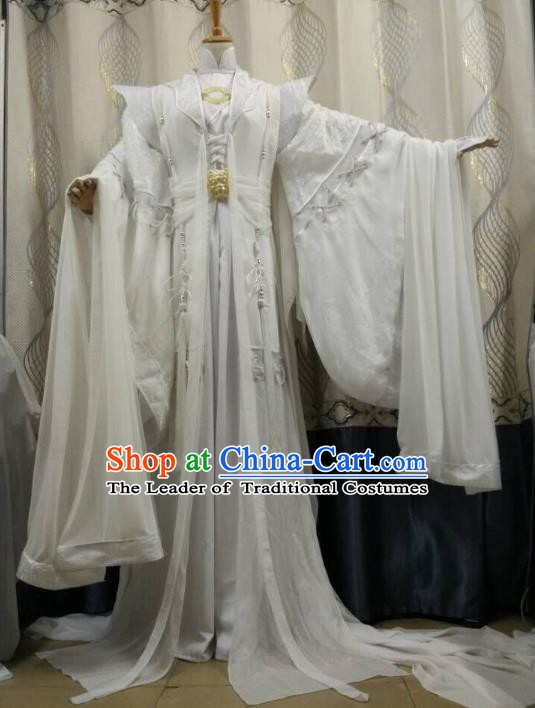 China Ancient Cosplay Fairy Halloween Costume Traditional Palace Princess Hanfu Dress for Women