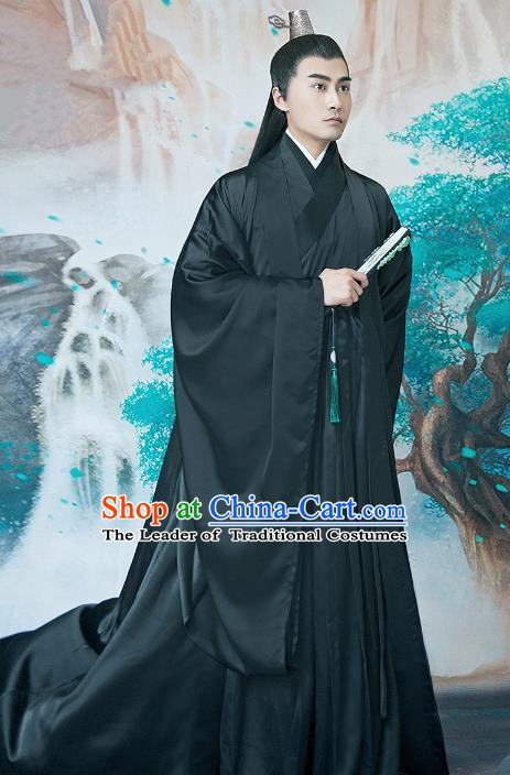 Traditional China Ancient Royal Prince Costume Halloween Swordsman Clothing for Men