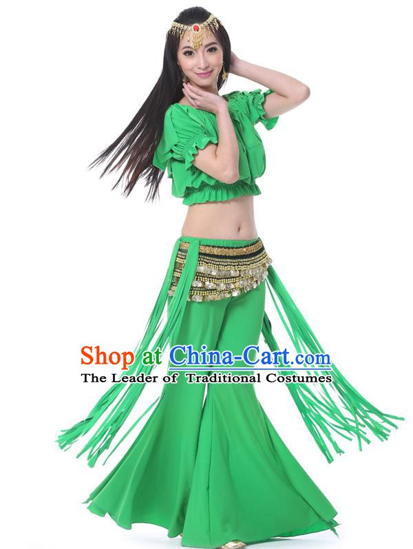 Indian Belly Dance Green Uniform India Raks Sharki Dress Oriental Dance Rosy Clothing for Women