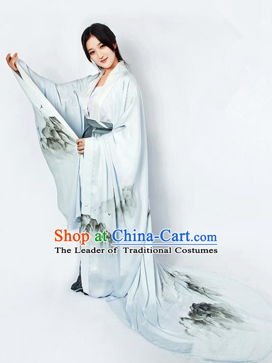 China Ancient Jin Dynasty Palace Princess Dress Clothing for Women