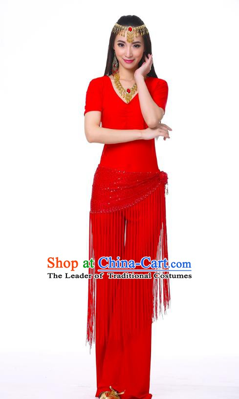 Indian Belly Dance Costume India Raks Sharki Red Suits Oriental Dance Clothing for Women
