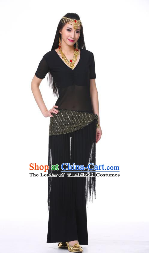 Indian Belly Dance Costume India Raks Sharki Black Suits Oriental Dance Clothing for Women