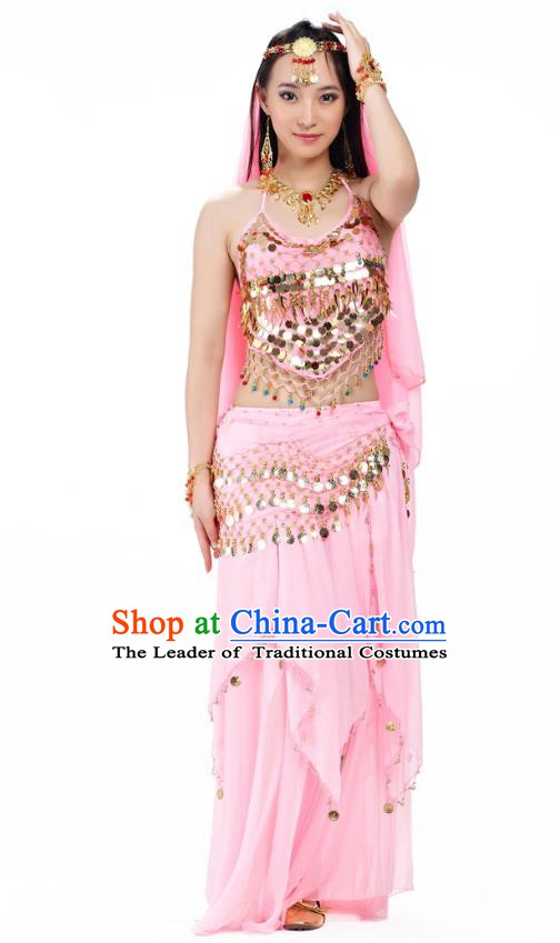 Top Indian Belly Dance Costume Oriental Dance Pink Dress, India Raks Sharki Clothing for Women