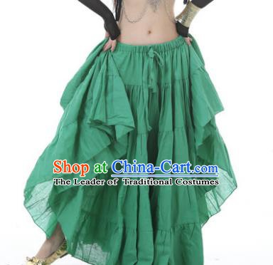 Indian Oriental Belly Dance Costume Green Bust Skirt, India Raks Sharki Bollywood Dance Clothing for Women
