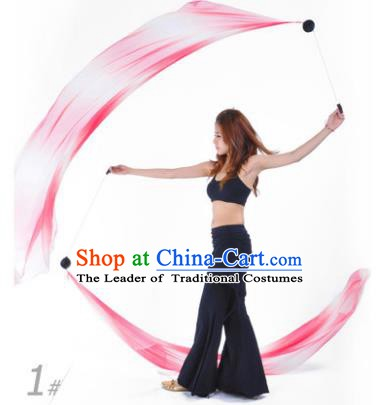 Indian Belly Dance Props India Raks Sharki Accessories Gradient Pink Ribbons for Women