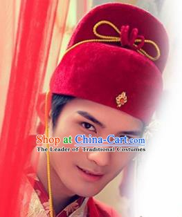 Chinese Handmade Classical Hair Accessories Ancient Bridegroom Hats for Men