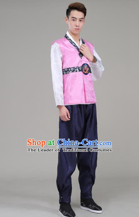 Asian Korean Court Dance Costumes Traditional Korean Hanbok Wedding Bridegroom Clothing for Men