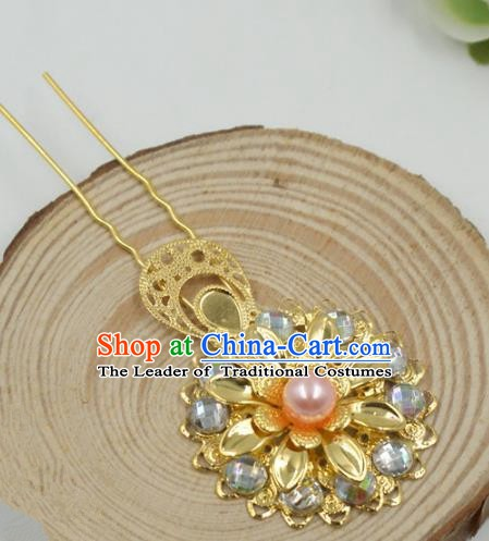 Chinese Handmade Classical Hair Accessories Ancient Hanfu Hair Stick Pearls Hairpins for Women