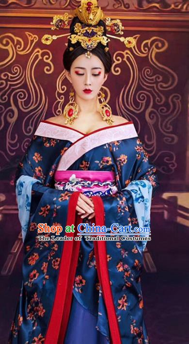 Chinese Traditional Tang Dynasty Imperial Concubine Dance Costumes and Headpiece Complete Set for Women