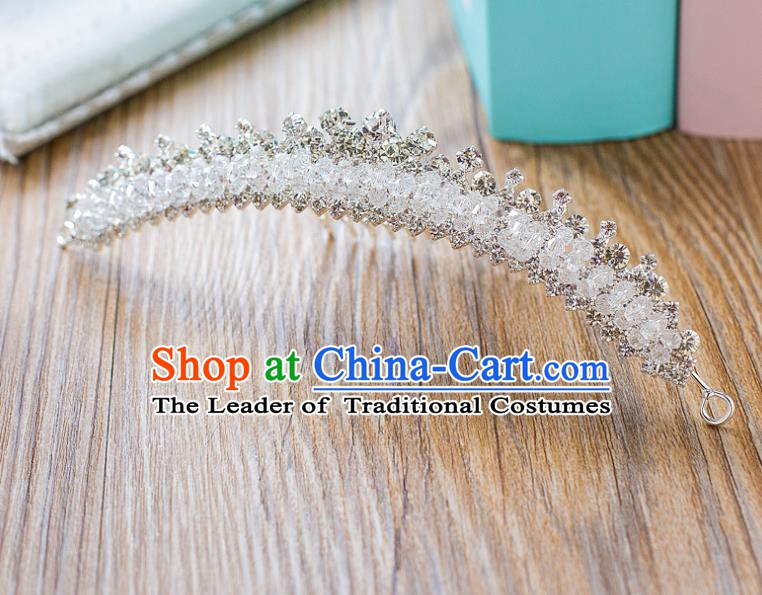 Handmade Classical Hair Accessories Baroque Crystal Hair Clasp Headwear for Women