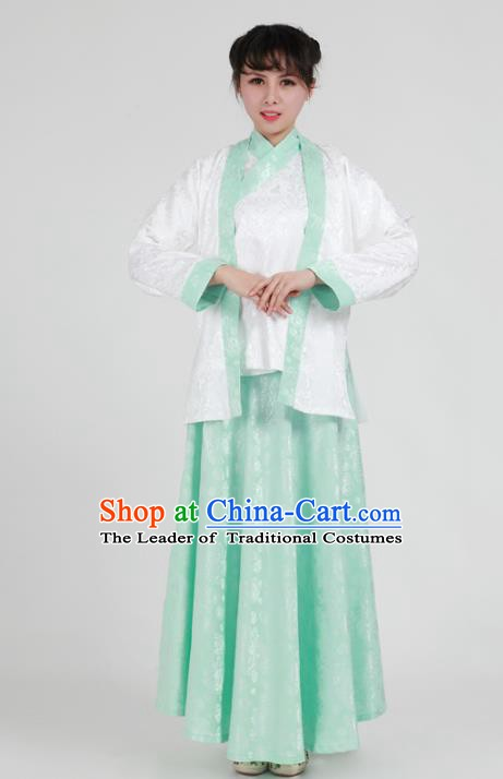 Traditional China Song Dynasty Young Lady Costume, Chinese Ancient Hanfu Clothing for Women